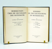 Remarks on the Foundations of Mathematics (Bemerkungen über die Grundlagen der Mathematik). Edición bilingüe inglés-alemán. Edited by G. H. von Wright, R. Rhees y G. E. M. Anscombe. Translated by G. E. M. Anscombe.  - WITTGENSTEIN (Ludwig).