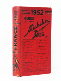 GUIDE DU PNEU MICHELIN, FRANCE,1952.  -